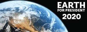 Earth for President Facebook Banner 2020